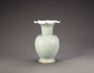 A Rare Large Carved Qingbai Va