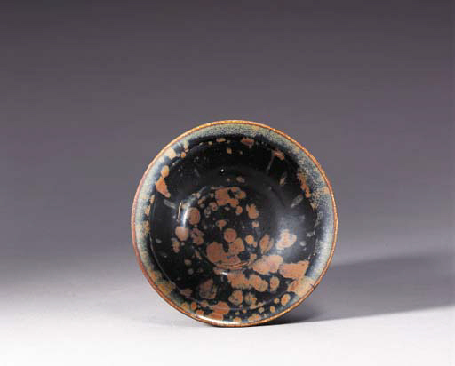 A Henan Brown-Splashed Black-Glazed Bowl