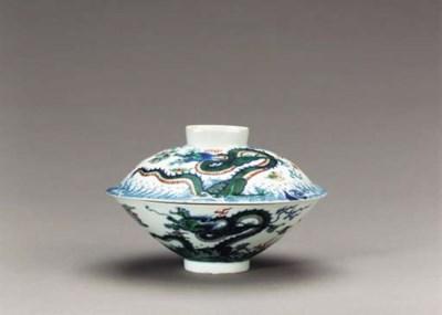 A Doucai Conical Dragon Bowl a