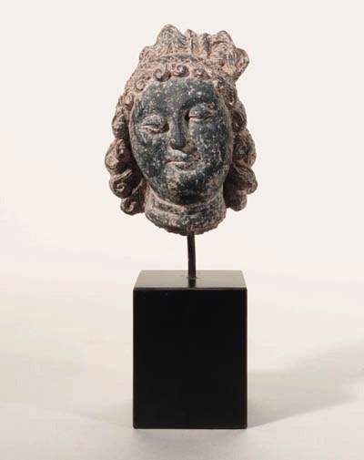 A Small Schist Head of a Bodhi