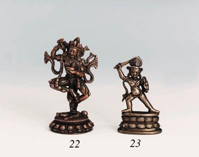 A bronze figure of Acala
