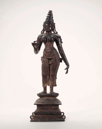 A Large Bronze Figure of Parvati