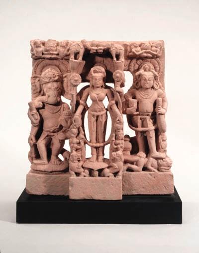 A Sandstone Stele of Gajalaksh