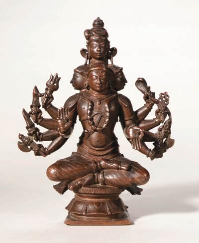 A Bronze Figure of Sadashiva
