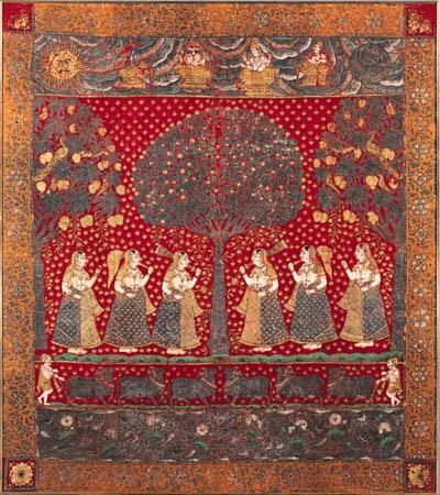 A Pichhavai of Gopis