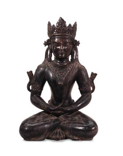 A Bronze Figure of a Bodhisatt