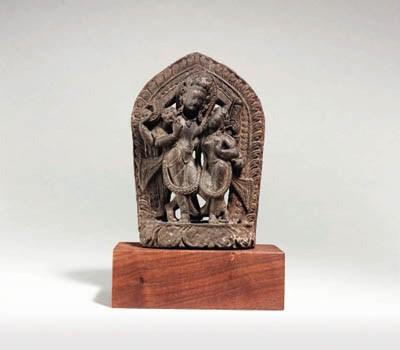A Stone Stele of Vishnu and La