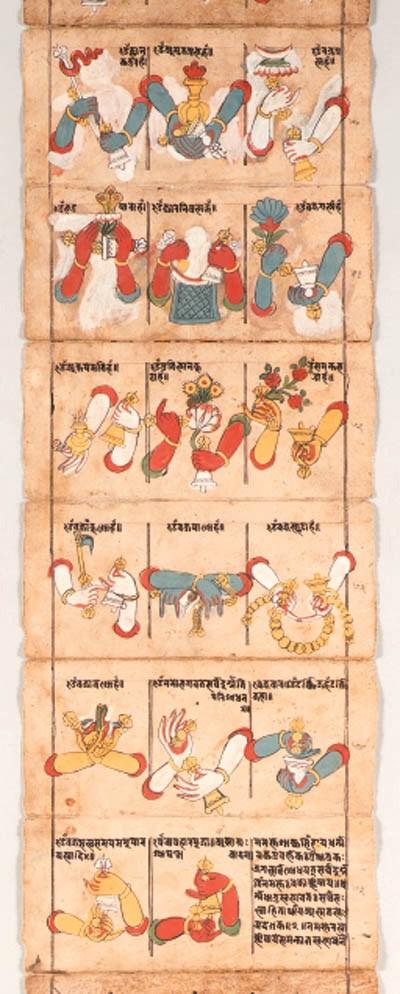 A Manuscript of Mudras