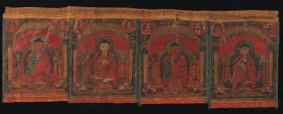 A Set of Four Medicine Buddha