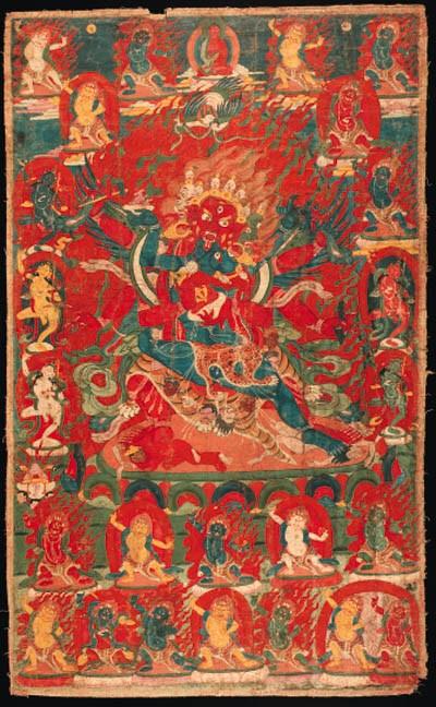 A Thanka of Guru Drakpoche