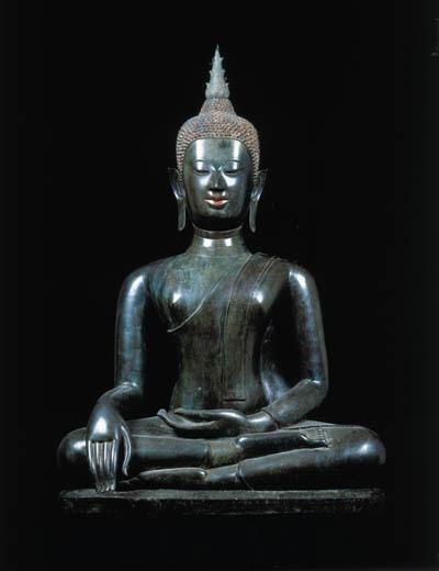 A Large Bronze Figure of Buddha