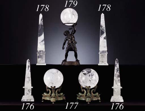 A PAIR OF LOUIS XVI STYLE ROCK