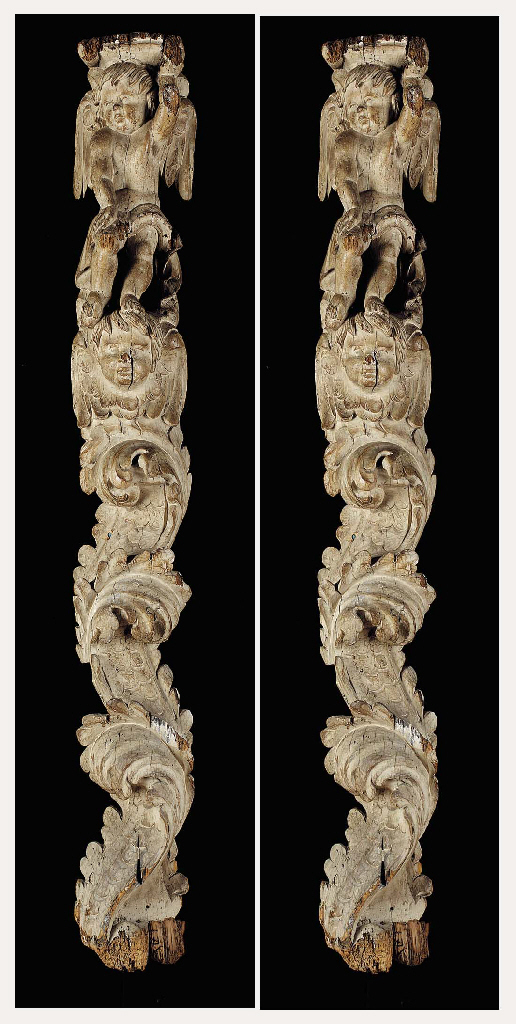 A PAIR OF ITALIAN BAROQUE WHIT
