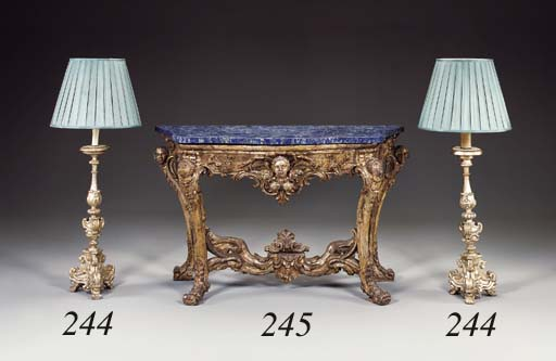 A PAIR OF ITALIAN BAROQUE CAND