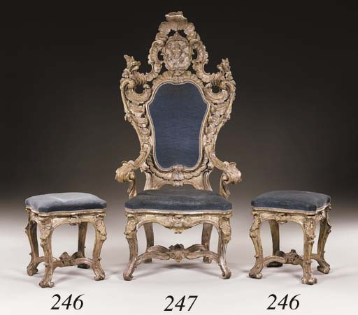 A PAIR OF ITALIAN ROCOCO SILVE