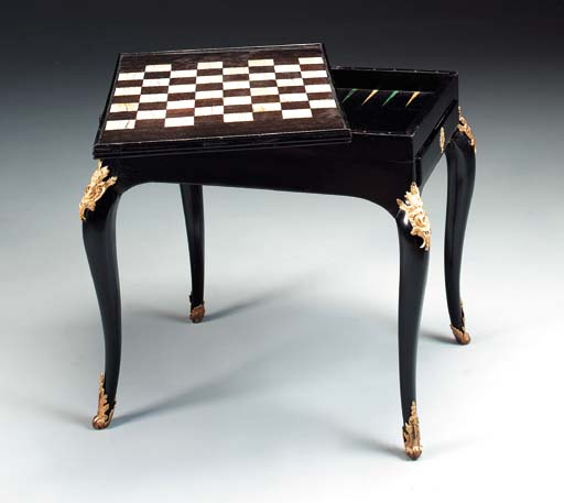 AN EARLY LOUIS XV IVORY-INLAID