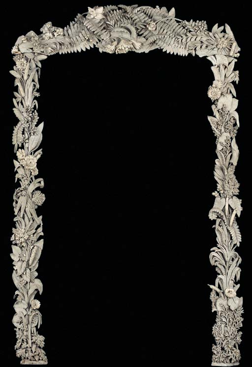 A FRENCH GREY-PAINTED MIRROR F