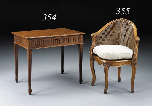 A LOUIS XV STYLE BEECHWOOD CAN