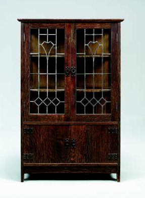 kitchen glass cabinets an oak and leaded glass china cabinet gustav stickley 1766