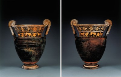 AN ATTIC RED-FIGURED VOLUTE-KR