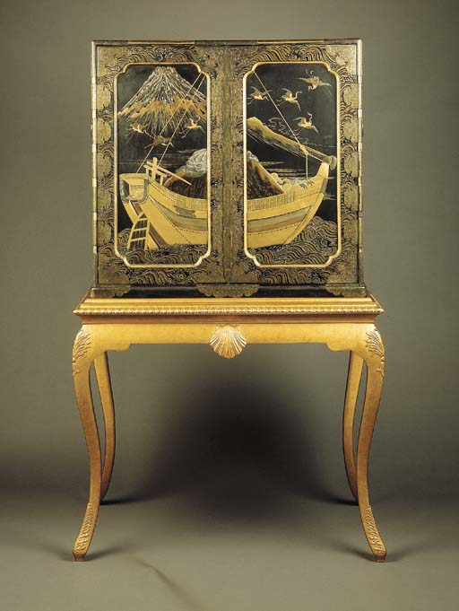 A Lacquer Chest on Stand