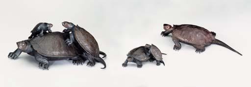 Three Bronze Animal Groups