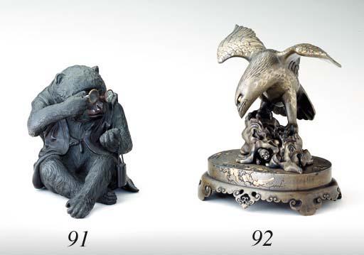 A Bronze Model of a Monkey