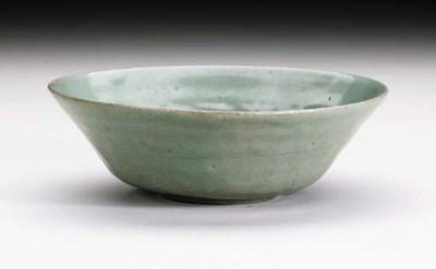 A Moulded Celadon Bowl