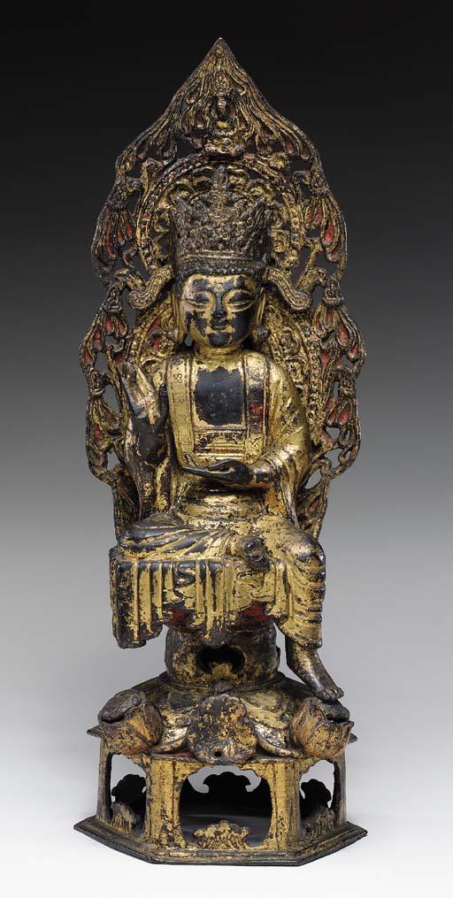 A Gilt-Bronze Figure of a Bodh