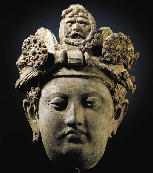 A Terracotta Head of a Bodhisa
