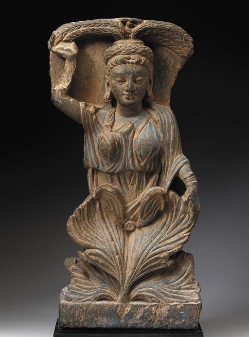 A Gray Schist Relief of a Fema