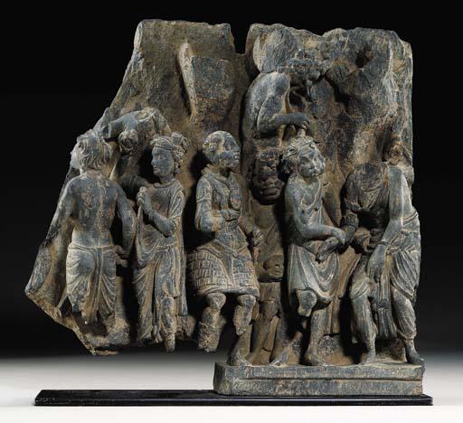 A Gray Schist Frieze from the