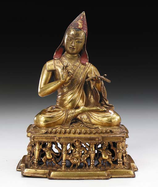 A Gilt Copper Figure of a Maha