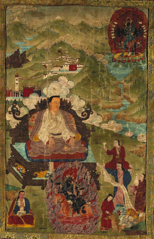 A Portrait Thangka of Marpa