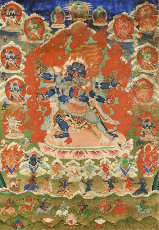 A Thangka of Vajrakila