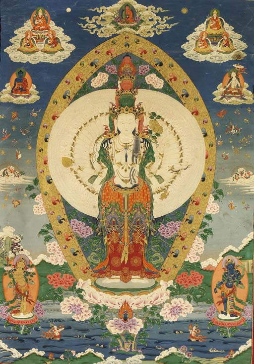 A Thangka of Thousand-Armed El
