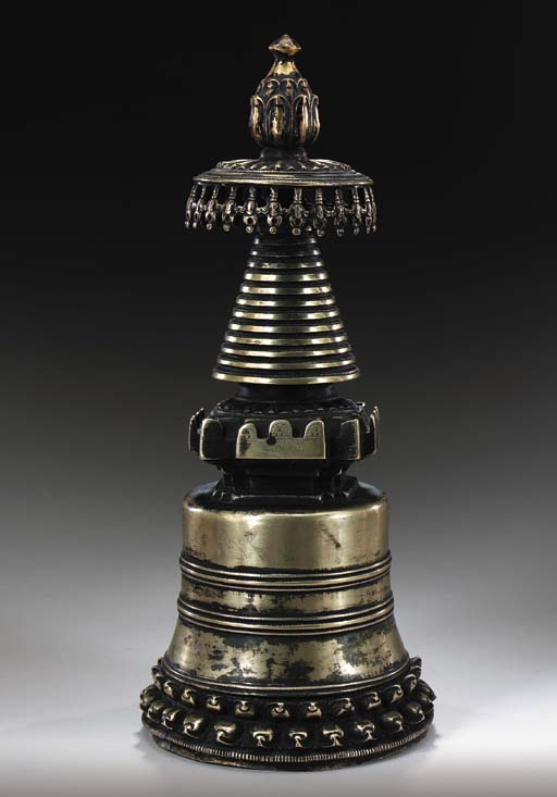 A Kadampa Bronze Stupa