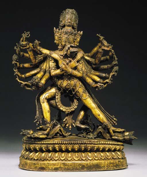 A Rare Gilt Bronze Figure of H