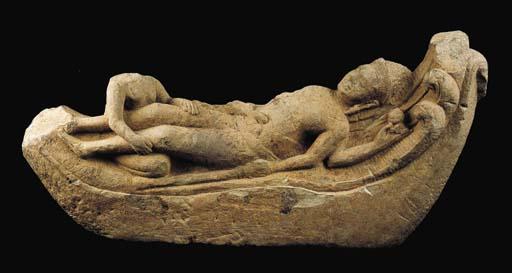 A Rare Stone Figure Vishnu res
