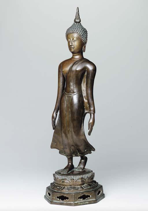 A Bronze Figure of a 'Walking
