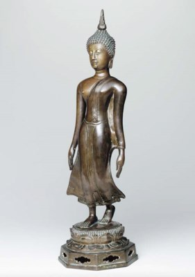 A Bronze Figure of a 'Walking