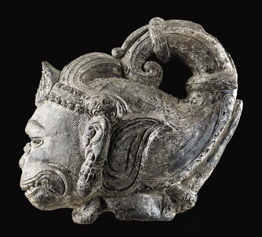 A Terracotta Head of Hanuman