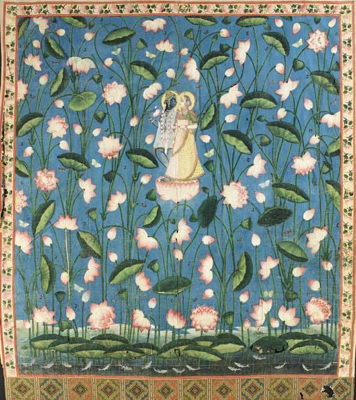 A Pichhavai of Krishna and Rad