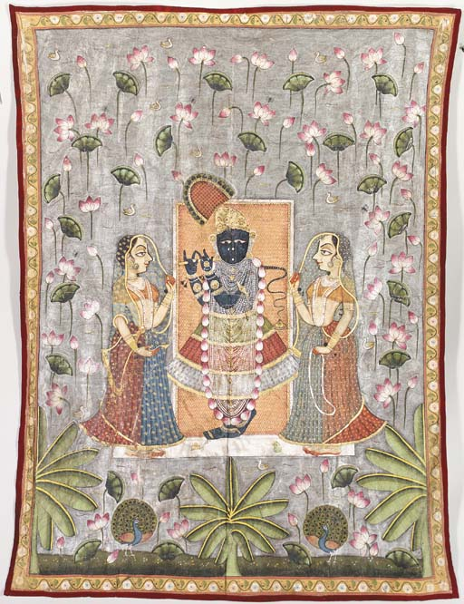 A Pichhavai of Krishna as Shri