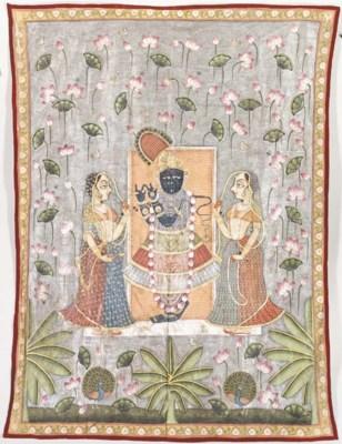 A Pichhavai of Krishna as Shri