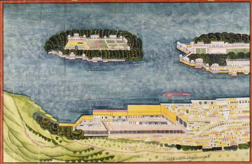 A View of the Lake Palace, Uda