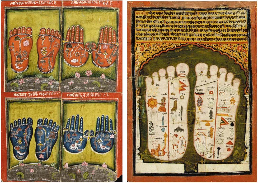 Two Paintings of Footprints of