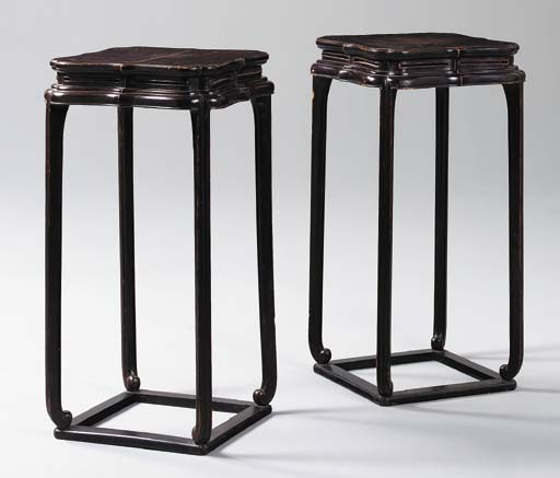 A Pair of Lacquered Incense St