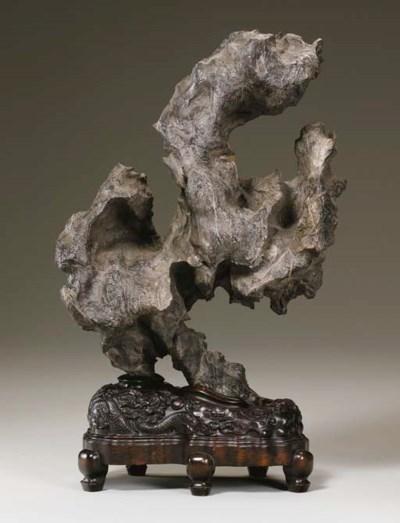 A Large Black Scholar's Rock