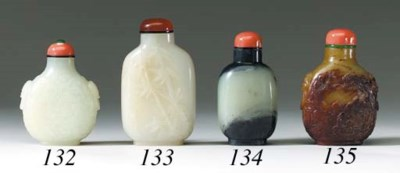 A Black and White Jade Bottle
